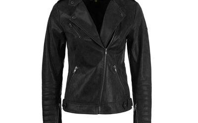 Desires Zalla Lederjacke für Damen – Eine Bikerjacke mit Reverskragen aus echtem Leder.